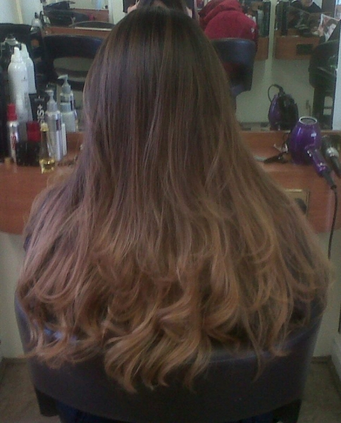 ombre long hair